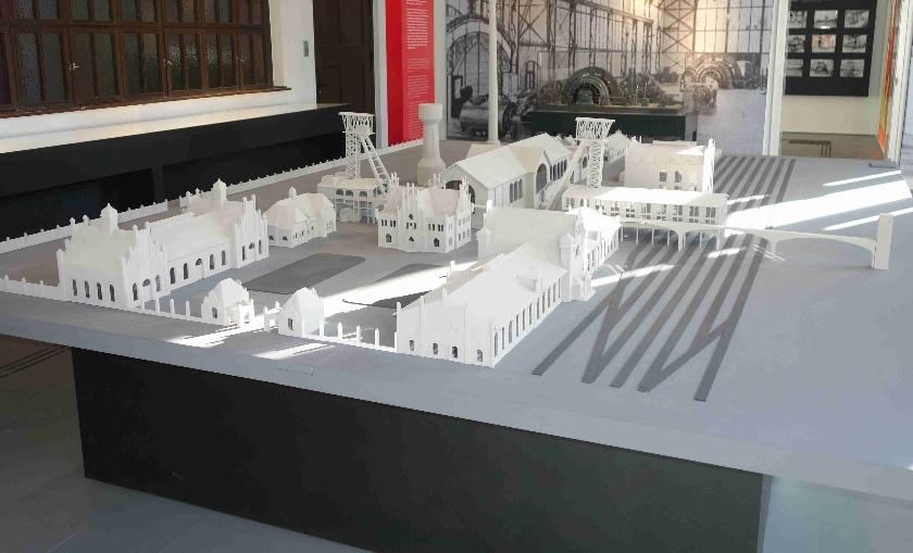 Modell der Zechengebäude
