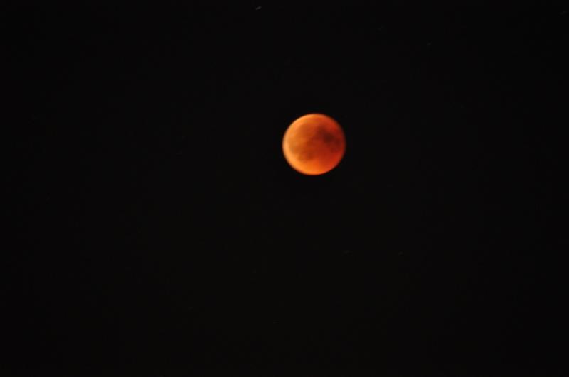 Roter Mond: Nach dem Stammtisch ging es noch zur Stadtkrone